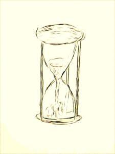 Как умереть время песочные часы рисунок