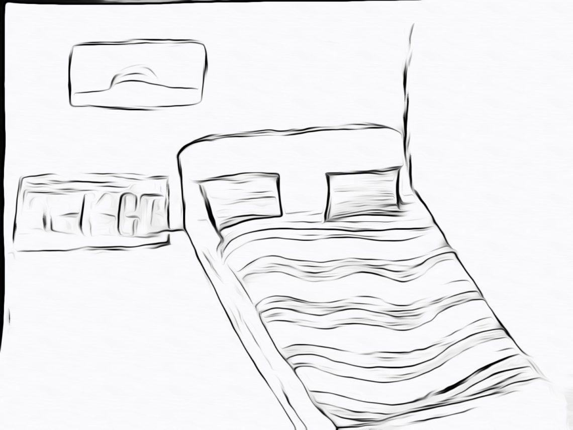 Как умереть во сне рисунок кровать